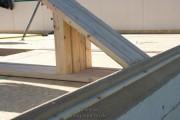 Die Stützkonstruktion für das Dach!