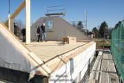 Die Stützkonstruktion für das Dach