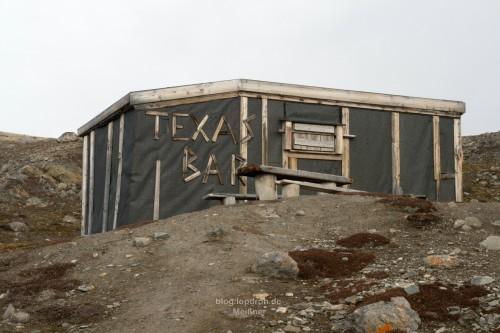 Die Texas Bar, eine Schutzhütte am Liefdefjord