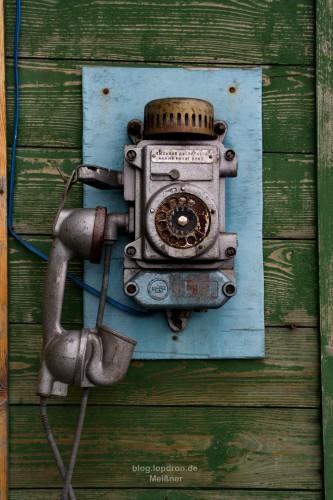 Telefon im Hafen