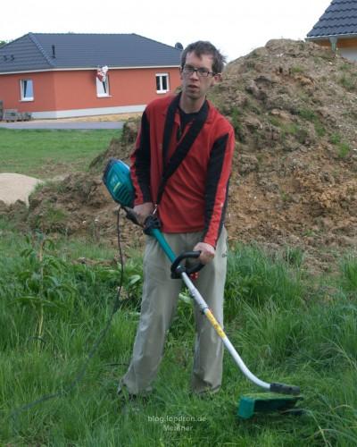 Wenn ich schon die Gartengeräte gewinne will ich sie wenigstens ausprobieren...